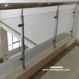 Stainless Steel Handrail를 가진 명확한 Tempered Glass Railing