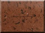 어두운 커피 색깔 두꺼운 20mm를 가진 유리제 불꽃 석영 돌