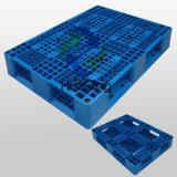 1100X800mm Plastic Pallets mit Window Crossed Bottom