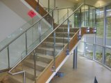 Toughened, закалено, прокатано, строящ, стекло для лестниц