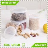 I contenitori di alimento di plastica trasparenti rotondi della cucina libera pp con il coperchio/soddisfare di cappelli fresco e BPA sicuro liberano