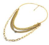 Collane registrabili europee del Choker delle collane a più strati della catena di colore dell'argento/oro di stile