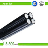 세겹 25mm2/16mm2 XLPE Insulated Aerial Bundled Cable