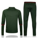 Da camisola ajustada do futebol do fato de desporto do treinamento do futebol dos homens do terno C.A. verde