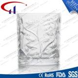 супер белая стеклянная чашка пива 235ml с цветком (CHM8030)