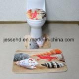 Matten-Gleitschutzset des preiswerter Preis-gedrucktes Badezimmer-3piece