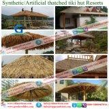 초가지붕 Tiki 바 또는 Tiki 오두막 합성 지붕을 짚으로 인 초막 물 방갈로 비치 파라솔