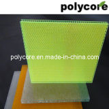 Panneau imperméable à l'eau de nid d'abeilles de transmission de la lumière (DAC3-G-PC6-T-20)