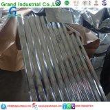 Métal ondulé galvanisé couvrant la tôle d'acier