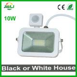 Новый стиль 10W белого или черного цвета датчика Светодиодный прожектор