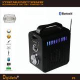 Al aire libre Bluetooth altavoz de radio de la batería con USB, Micro SD