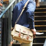 Посыльный компьтер-книжки сумки человека холстины & мешок плеча