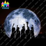 Finegoの公園の装飾のための巨大な空気照明月の気球の球膨脹可能なLED火星
