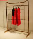 Góndola de la manera del metal para la tienda al por menor de la ropa, estante de visualización