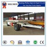 중국 20FT 판매를 위한 2개의 차축 평상형 트레일러 견인봉 가득 차있는 트레일러