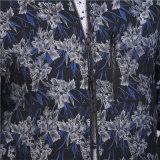 Revestimento do casaco de lã do Zipper do jacquard para a roupa do homem