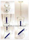 Tubulações de vidro da taça desobstruída de 15 polegadas/tubulação de fumo científica