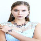 Neue Entwurfs-bunte Stein-Form-Schmucksache-gesetzter Halsketten-Armband-Ohrring