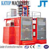 Double ascenseur de construction de bâtiments de cages de la qualité Sc100/100 à vendre
