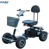 24V 1000W Motor를 가진 세륨 Single Seat Easy Folding Electric Golf Cart