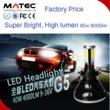 Linterna ligera H4 H7 H11 9004 de la linterna LED del coche de Guangzhou Matec LED 9005 9006 9007