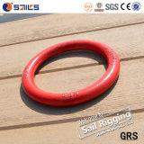 Schmiedete rotes Spritzlackierverfahren der Abstecken-Befestigungsteil-G80 Metallrunden Ring