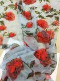 高品質の服のための新しいデザイン3D花の軽くて柔らかいファブリック