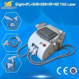 Qualidade superior optar por luz pulsada ND YAG Laser Elight Laser Profissional Máquina de remoção de pêlos