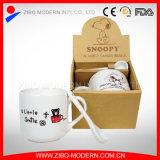 Tasse en céramique avec cuillère grès d'impression du logo tasse à café