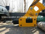 excavador hidráulico de la rueda 9ton con el taladro rotatorio