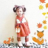 Princesse pure Dress de Fox de coton de couleur de cahot pour des vêtements d'enfants