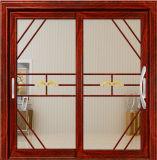 Раздвижная дверь сети москита нержавеющей стали застекленная двойником алюминиевая