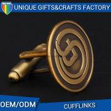 공장 공급 선전용 금속은 금에 의하여 도금된 커프스 단추를 돋을새김했다