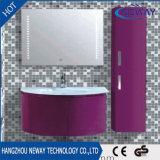 잘 고정된 PVC 유리제 물동이 LED 미러 목욕탕 내각