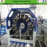 Máquina reforzada fibra de la producción \ de extrudado del manguito del PVC con la máquina de enrollamiento de la fibra