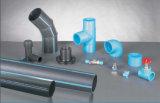 Encaixes de tubulação fabricados do PE da cor material preto