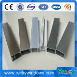 Revêtement électrophorétique Profil en aluminium de couleur bronze pour Windows et châssis de porte