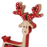 在庫のクリスマスの装飾のための木のトナカイの出現のカレンダ