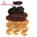 Estensione mongola dei capelli umani di Remy dell'onda dei capelli di Ombre