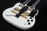 Guitare Style Double Goupille Doublée Alpine White 12/6 Strg Sg