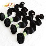 100%のインド人のRemyの人間の毛髪ボディ波自然なカラー毛の織り方
