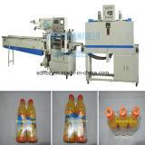 Machine van de Verpakking van Shink van de Hitte van de Flessen van de Drank van het Type van hoofdkussen de Automatische