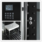 Monalisa Black Round Computerized Shower Room com sauna a vapor (M-8280)