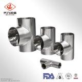 Te larga sanitaria de la pipa del acero inoxidable con 3A/DIN/SMS/Sio/Rjt 304/316L estándar