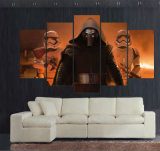 5つのパネルのHDによって印刷される塗るスターウォーズ力は居間のための映画のポスターのキャンバスプリントホーム装飾の壁の芸術映像を覚醒させる
