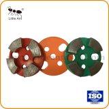 4개의 세그먼트 팬 유형 회전 숫돌 다이아몬드 가는 격판덮개 인치 직경 4개 가는 공구
