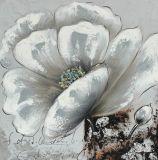 Handgemachtes Segeltuch-Ölgemälde des Blumenentwurfs