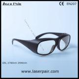 Transmittance de 80% de óculos de proteção de segurança do laser dos vidros da segurança do laser 2940nm para Er o laser de Laserpair