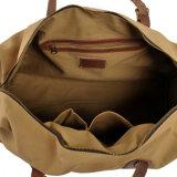 2018の卸売の方法偶然の週末袋の革ハンドルストラップのキャンバス旅行袋(RS-2095C)