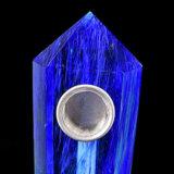 Da tubulação azul da mão de quartzo do Smelting da tubulação da mão tubulação de fumo material natural de fumo